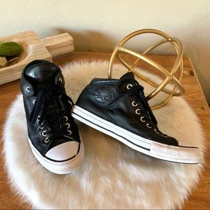 Converse leather high tops unisex